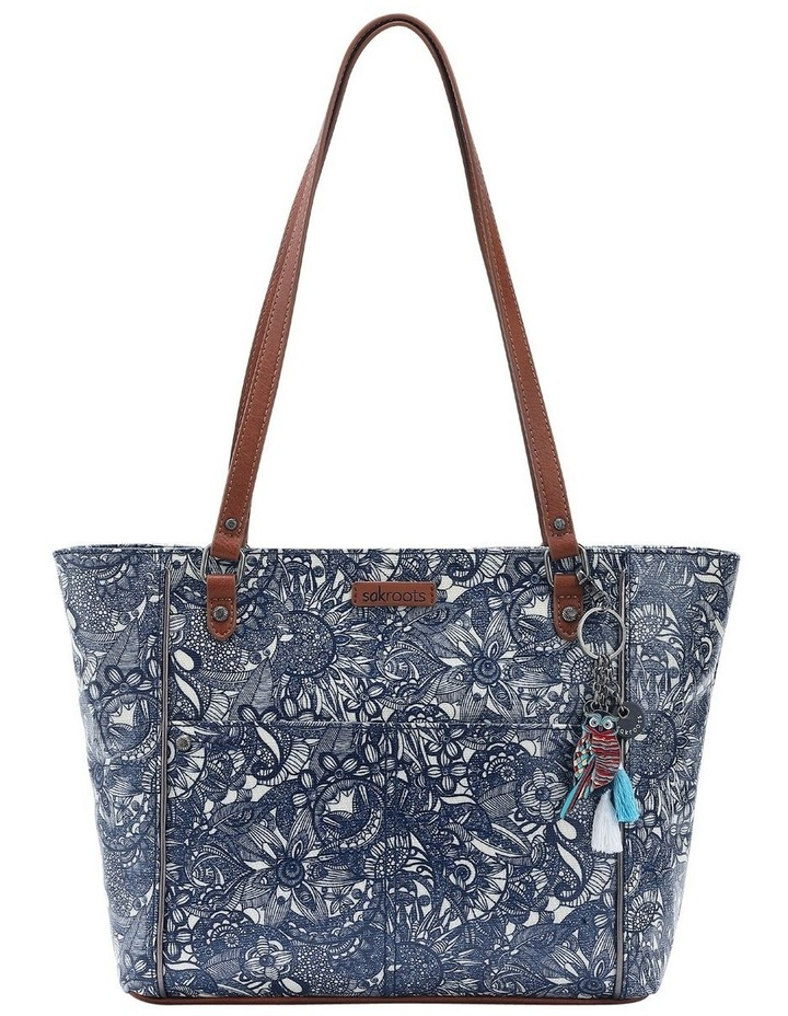 106078 Artist Circle Zip Top Tote Bag image 1