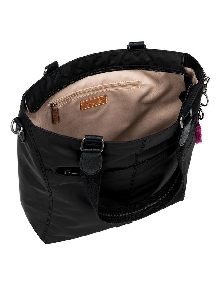 108218BLA Esperato Nylon Double Handle Tote Bag image 3
