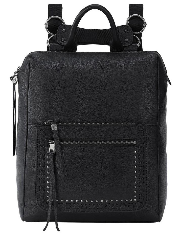 108733BLA Loyola Leather Zip Around Back Pack image 1