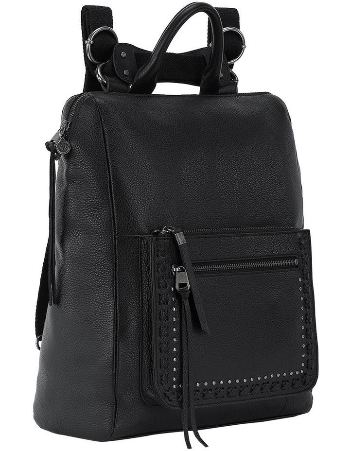 108733BLA Loyola Leather Zip Around Back Pack image 2
