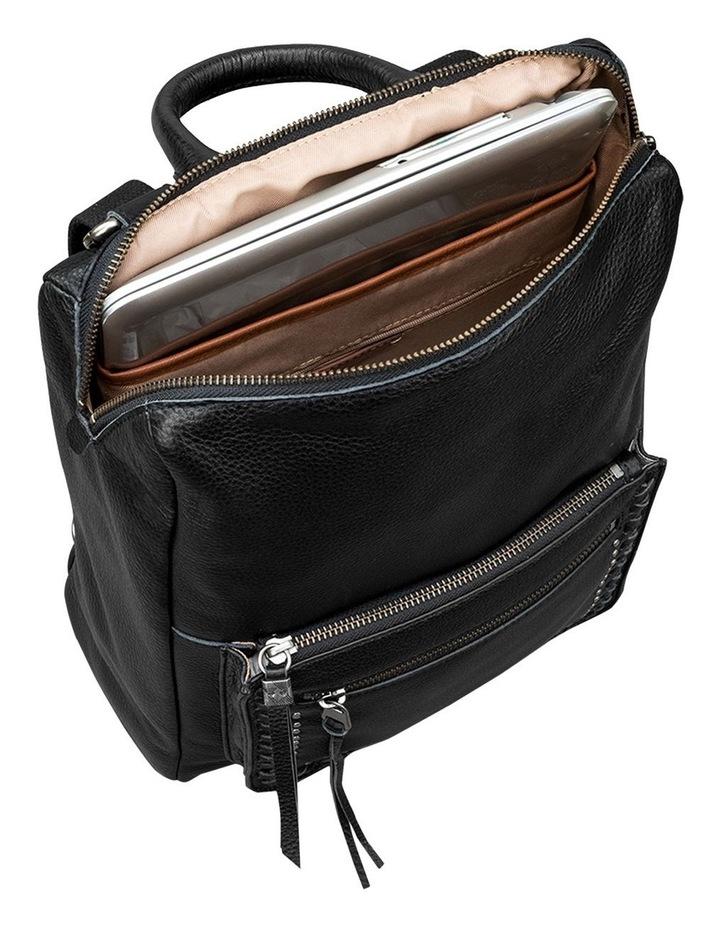 108733BLA Loyola Leather Zip Around Back Pack image 3