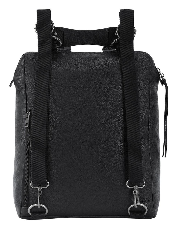 108733BLA Loyola Leather Zip Around Back Pack image 4