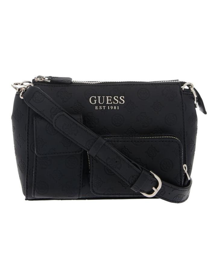 Ilenia Zip-Top Crossbody Bag in Black image 1