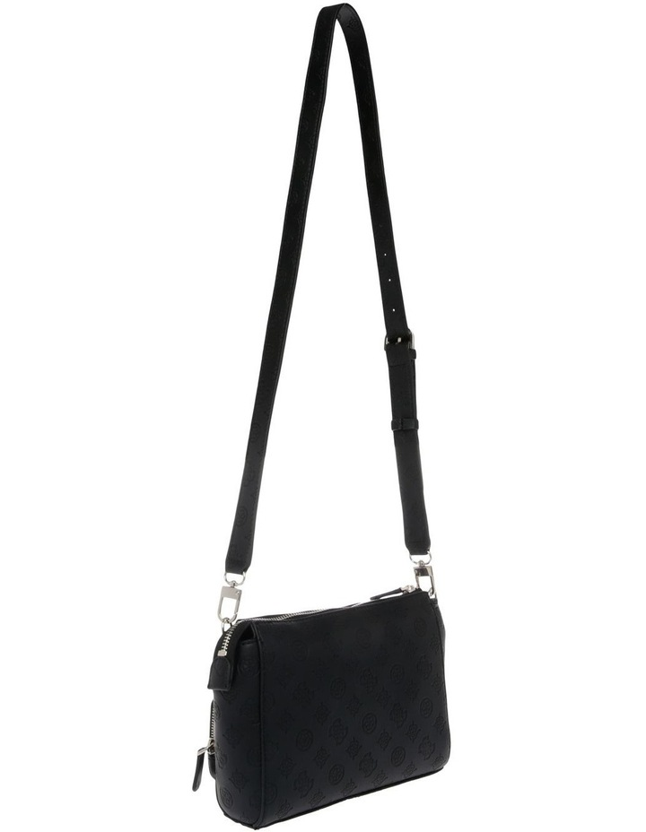 Ilenia Zip-Top Crossbody Bag in Black image 2