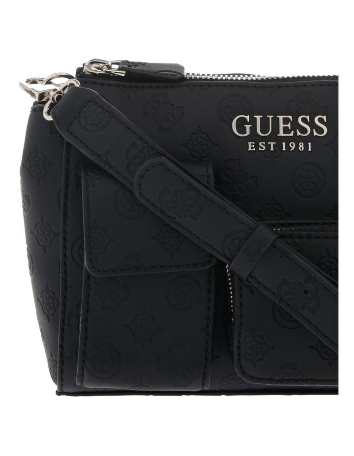 Ilenia Zip-Top Crossbody Bag in Black image 3