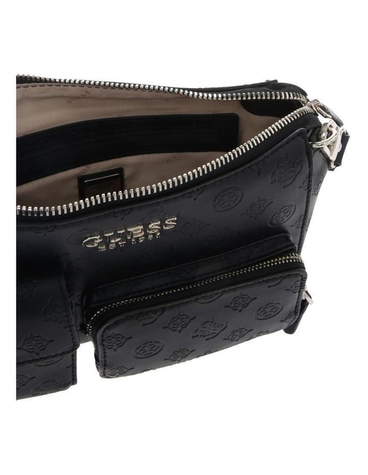 Ilenia Zip-Top Crossbody Bag in Black image 4
