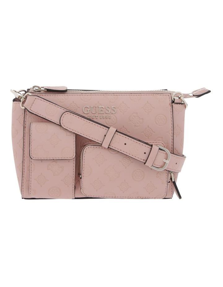 Ilenia Zip-Top Crossbody Bag in Peach image 1