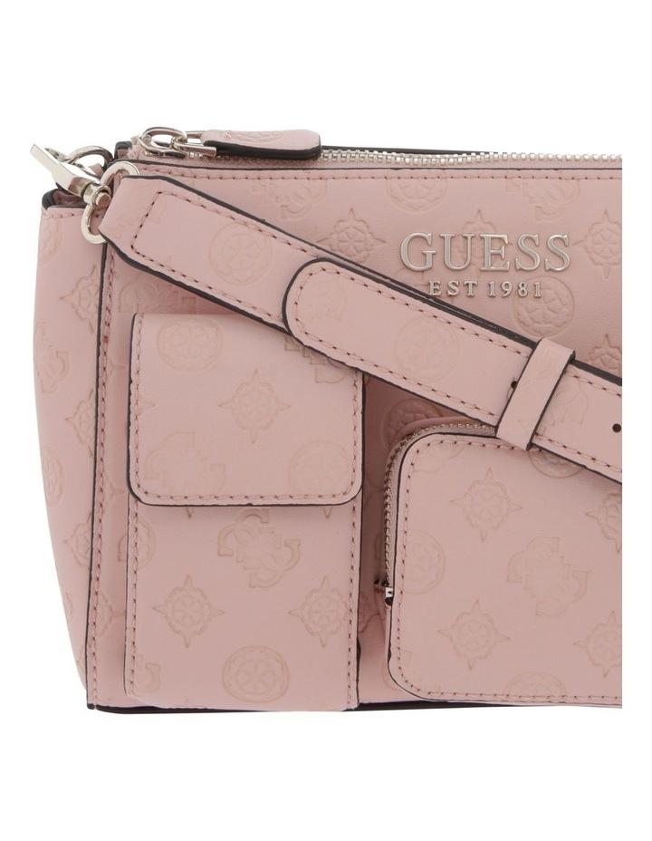 Ilenia Zip-Top Crossbody Bag in Peach image 3