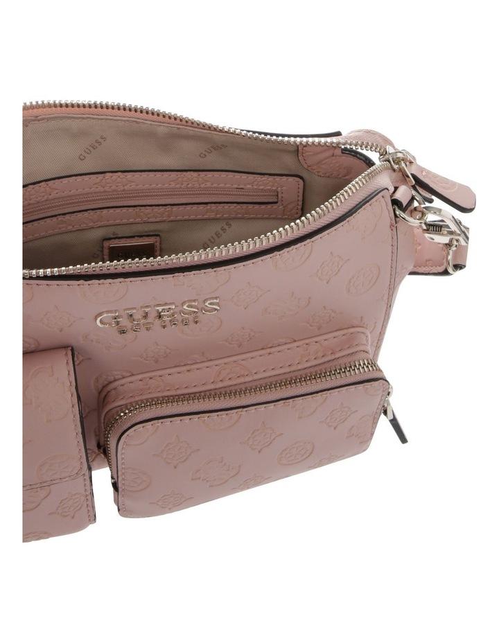 Ilenia Zip-Top Crossbody Bag in Peach image 4