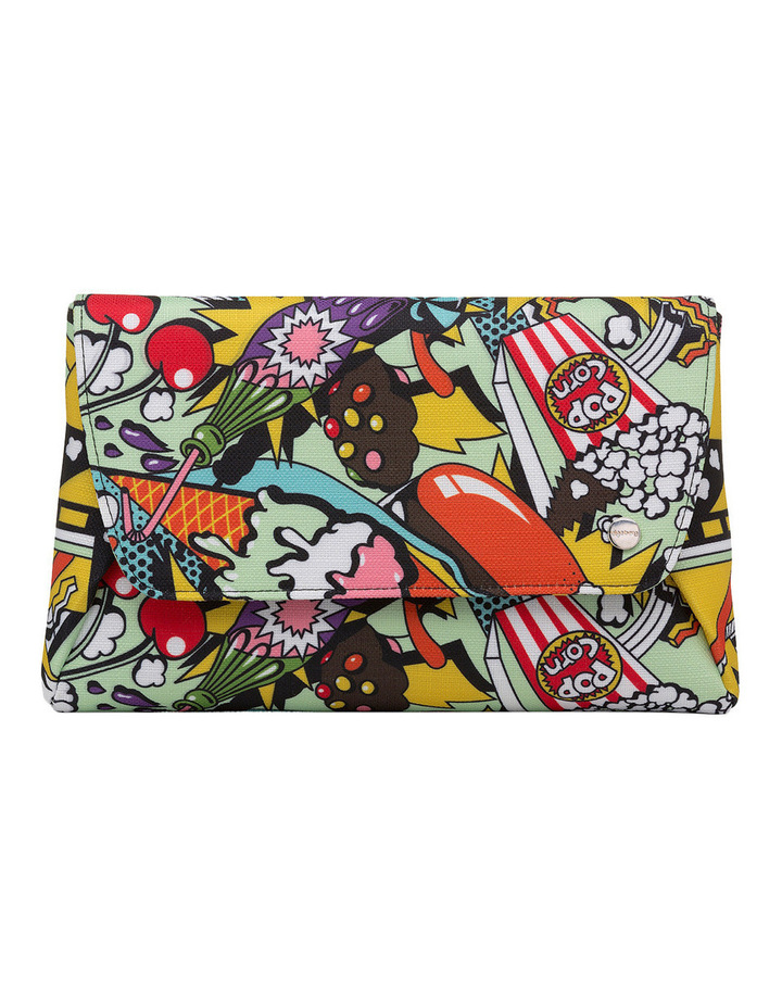 OB6285 Andy Pop Art Fold Over Clutch image 1