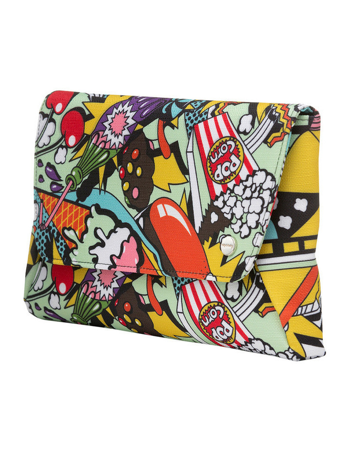 OB6285 Andy Pop Art Fold Over Clutch image 2