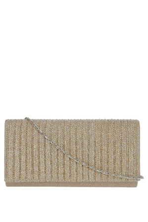 Gregory Ladner - Pleated Flap Over Clutch Bag