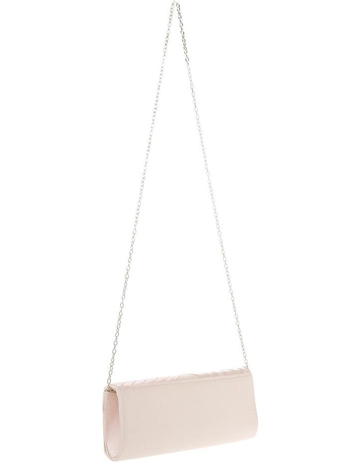Satin Cross Pleat Flap Over Clutch Bag image 2