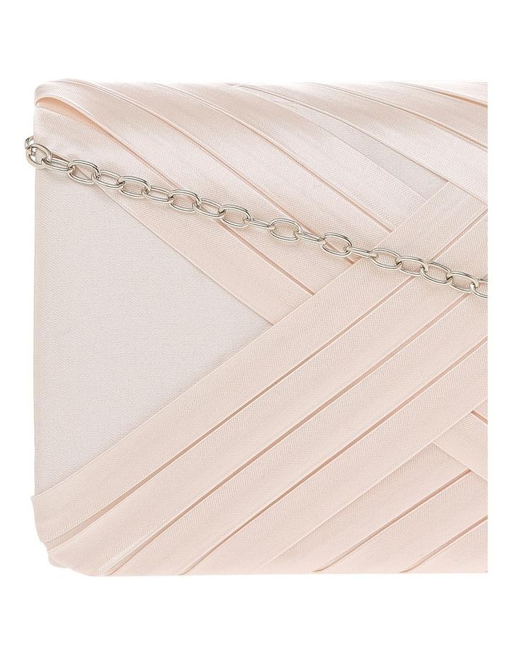 Satin Cross Pleat Flap Over Clutch Bag image 3
