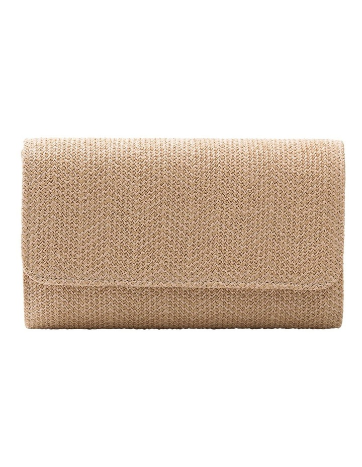 GBGP006M Woven Flap Over Clutch Bag image 1
