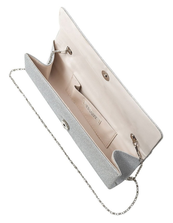 Lurex Flap Over Clutch Bag image 5