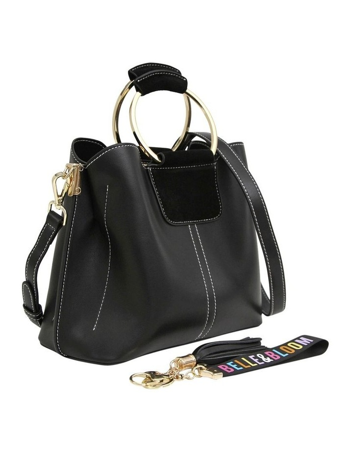 TWI100BLK Twilight Black Zip Top Crossbody Bag image 4