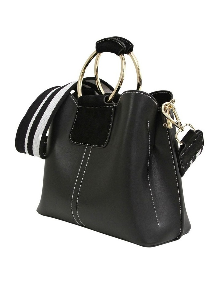 TWI100BLK Twilight Black Zip Top Crossbody Bag image 5