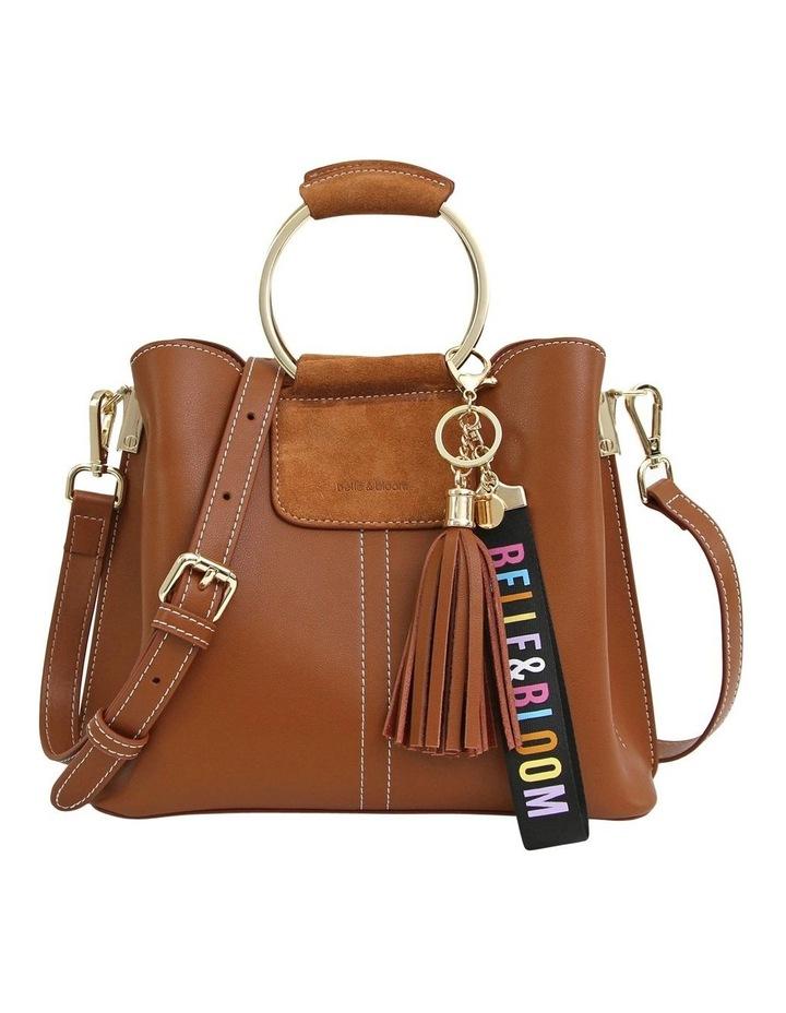 TWI300BWN Twilight Brown Zip Top Crossbody Bag image 1