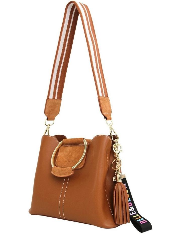 TWI300BWN Twilight Brown Zip Top Crossbody Bag image 2
