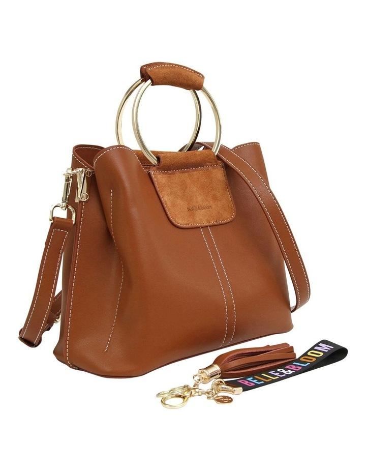 TWI300BWN Twilight Brown Zip Top Crossbody Bag image 5