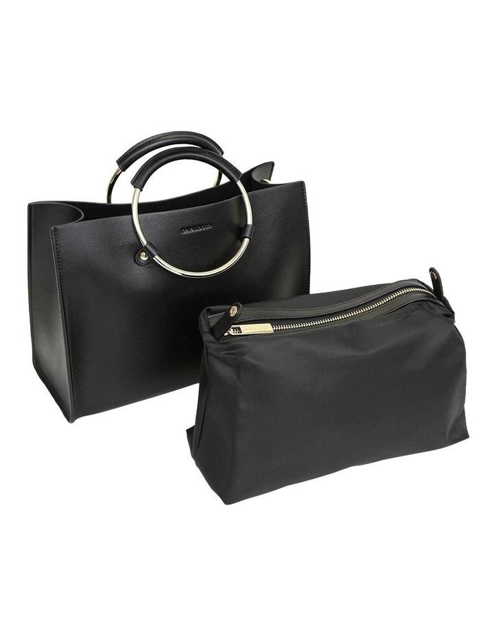 Black Palm Beach Zip Top Crossbody Bag PBCH100BLK image 6