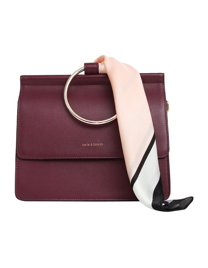 Wine Brianna Flap Over Crossbody Bag image 1