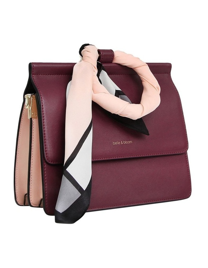 Wine Brianna Flap Over Crossbody Bag image 3