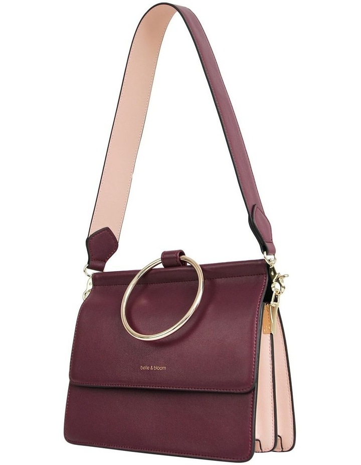 Wine Brianna Flap Over Crossbody Bag image 4