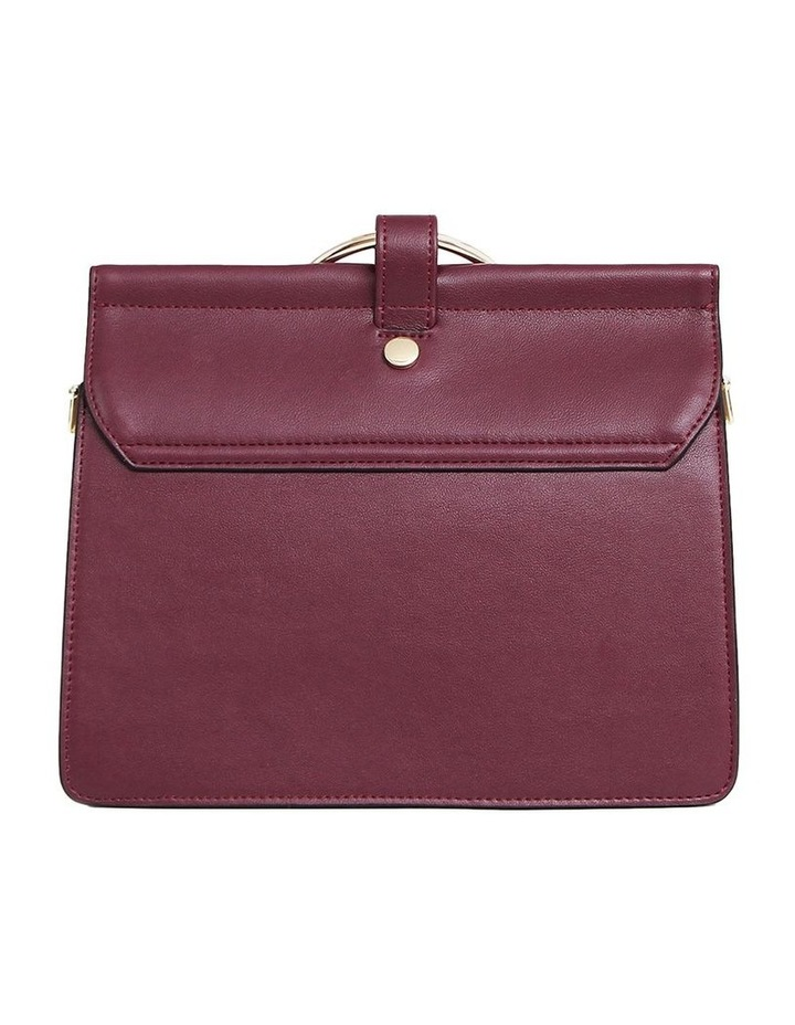 Wine Brianna Flap Over Crossbody Bag image 6