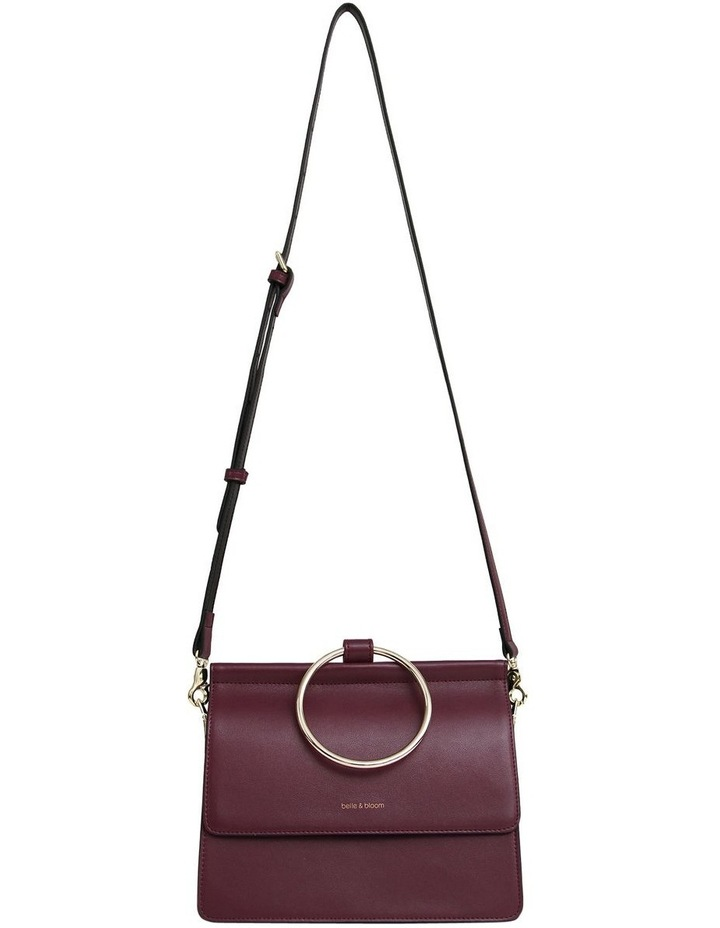 Wine Brianna Flap Over Crossbody Bag image 7