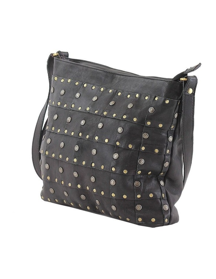 PRM206 Rivet Zip Top  Crossbody Bag image 2