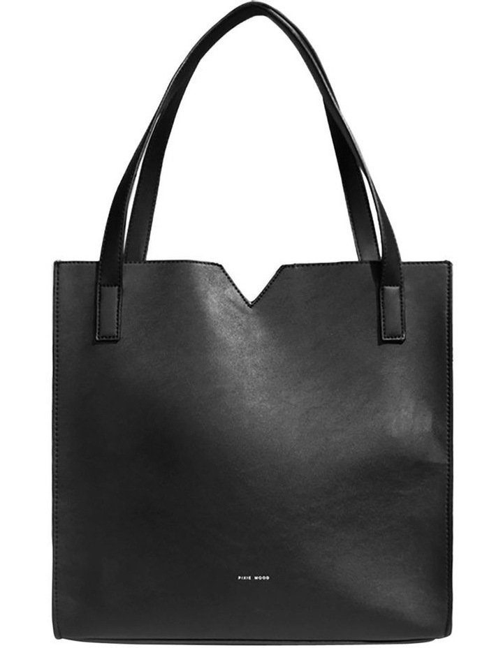 ALI219-TB-01 Alicia Double Handle Black Tote Bag image 1