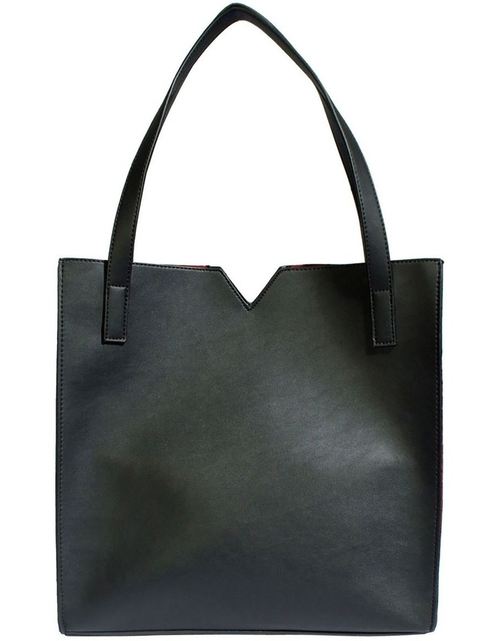 ALI219-TB-01 Alicia Double Handle Black Tote Bag image 2