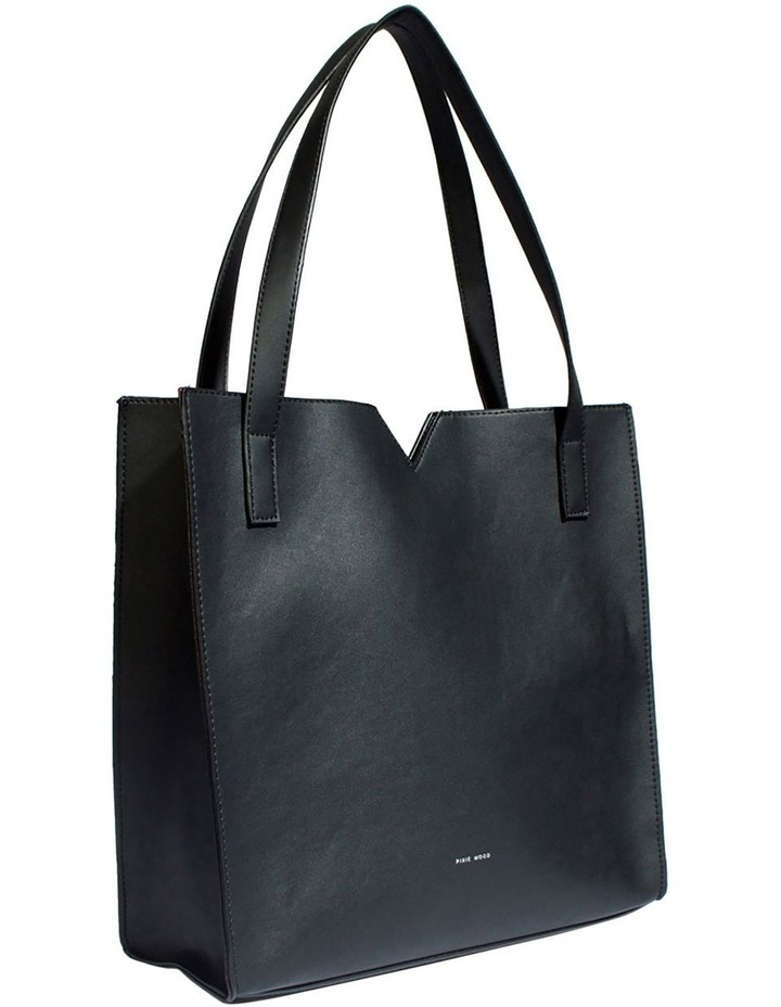 ALI219-TB-01 Alicia Double Handle Black Tote Bag image 3