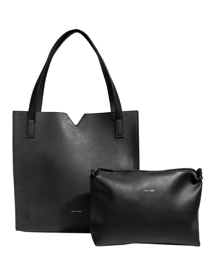 ALI219-TB-01 Alicia Double Handle Black Tote Bag image 4