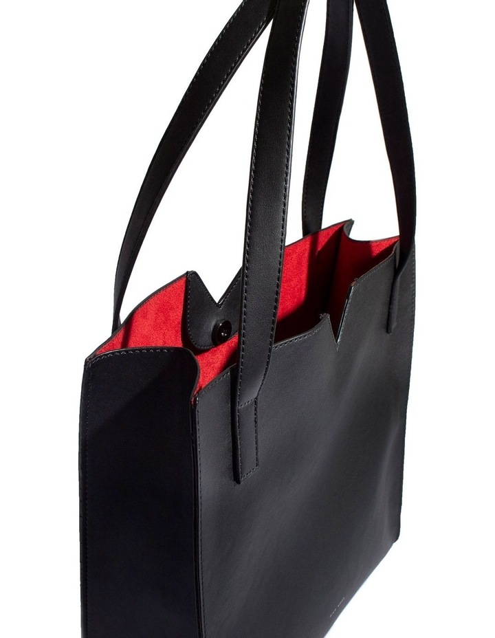 ALI219-TB-01 Alicia Double Handle Black Tote Bag image 5