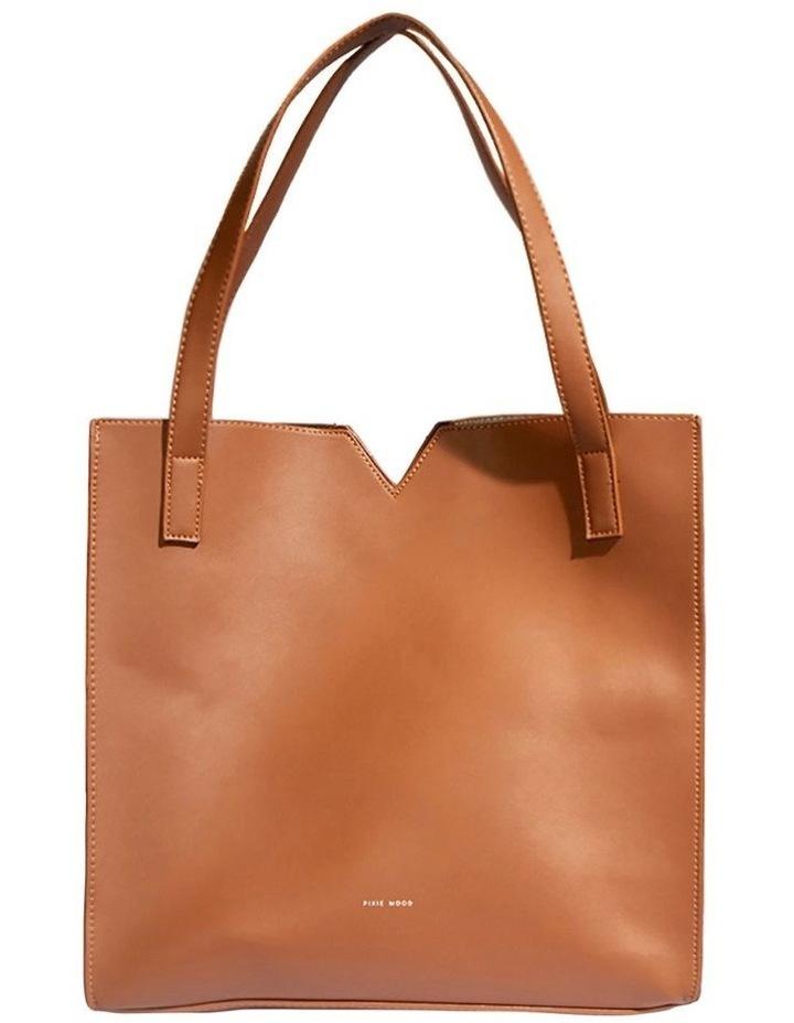 ALI219-TB-02 Alicia Double Handle Tan Tote Bag image 1
