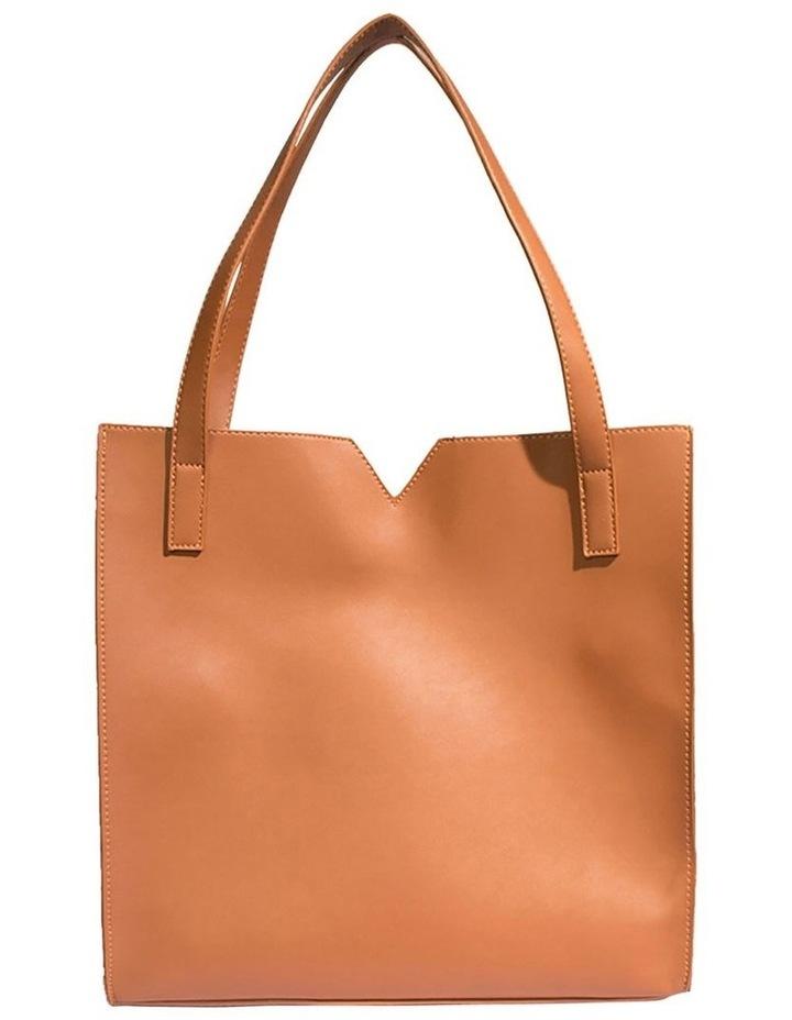 ALI219-TB-02 Alicia Double Handle Tan Tote Bag image 2
