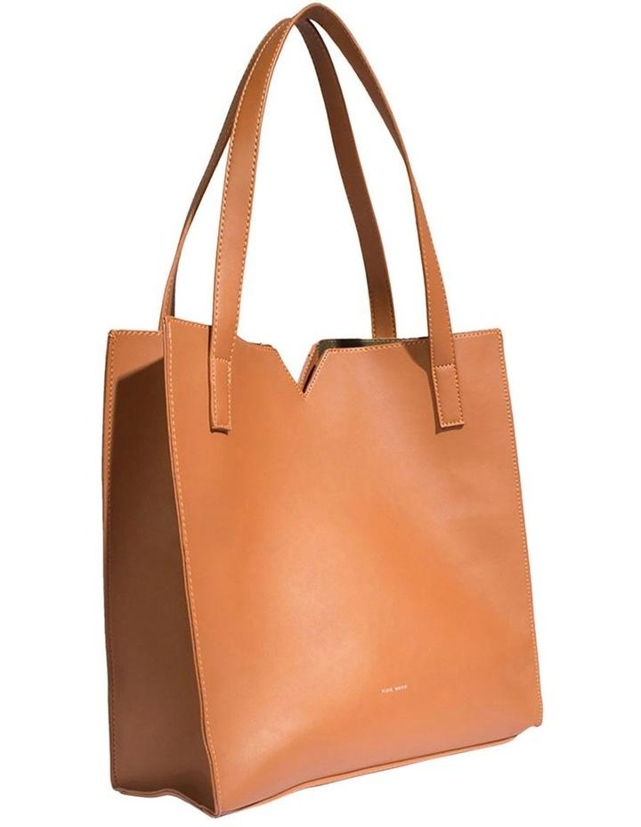 ALI219-TB-02 Alicia Double Handle Tan Tote Bag image 3