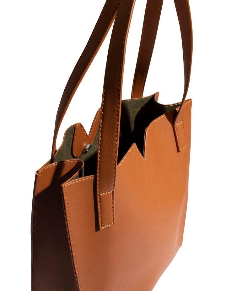 ALI219-TB-02 Alicia Double Handle Tan Tote Bag image 5
