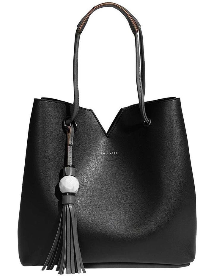 Jasmine Double Handle Black Tote Bag image 1