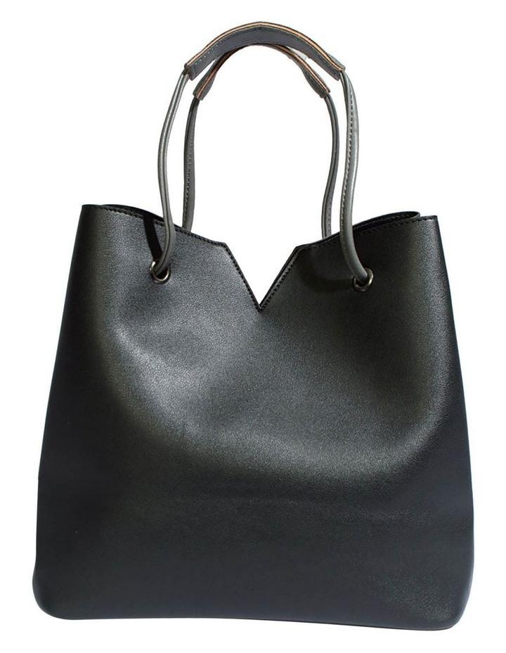 Jasmine Double Handle Black Tote Bag image 2
