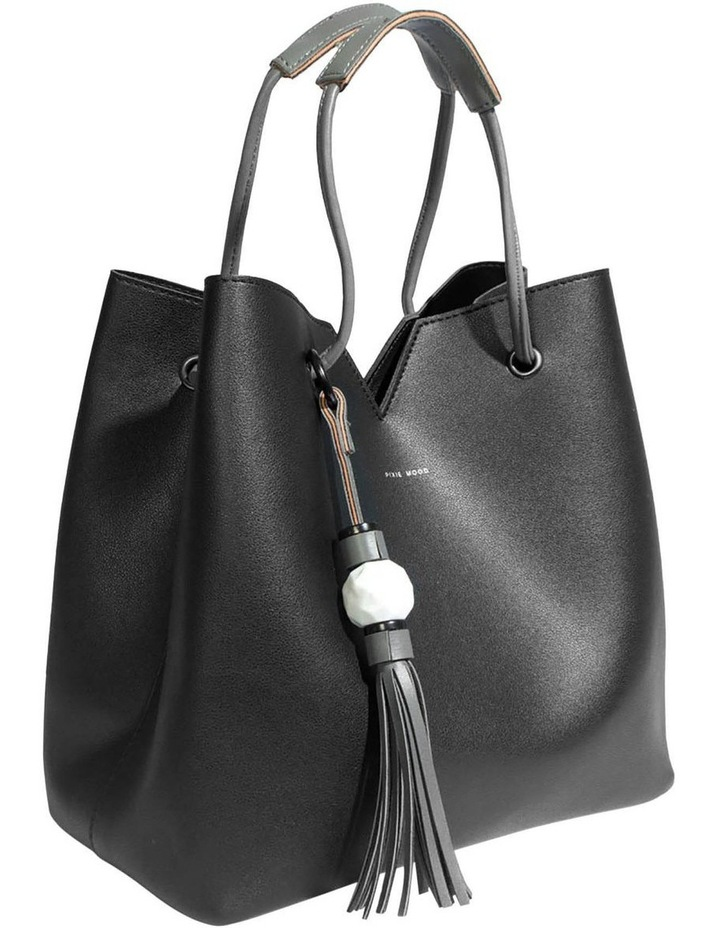 Jasmine Double Handle Black Tote Bag image 3