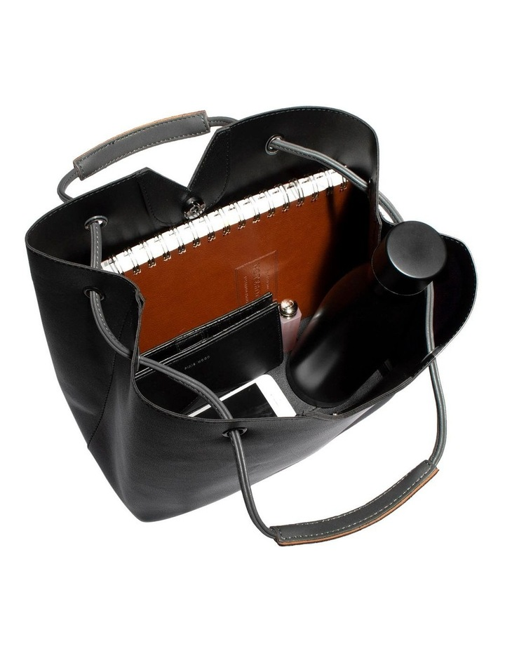 Jasmine Double Handle Black Tote Bag image 5