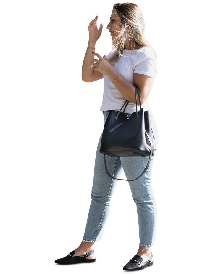 Jasmine Double Handle Black Tote Bag image 6