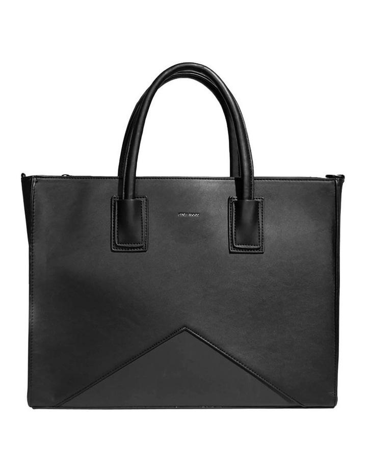 Greta Double Handle Black Tote Bag image 1