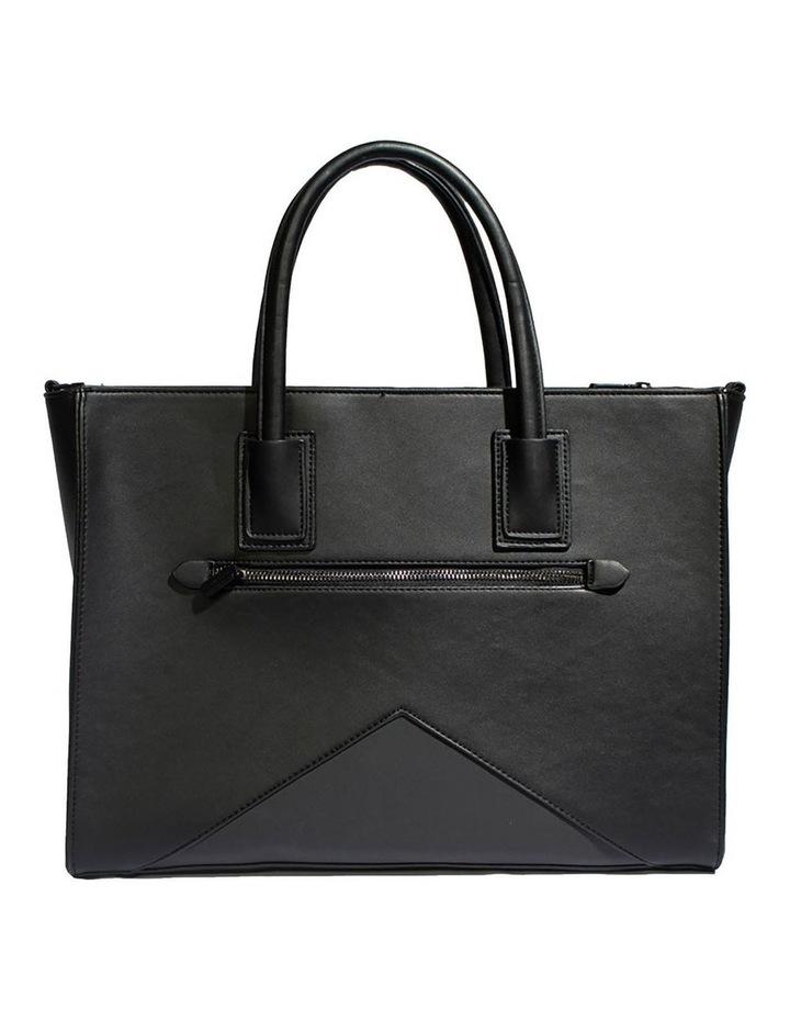 Greta Double Handle Black Tote Bag image 2