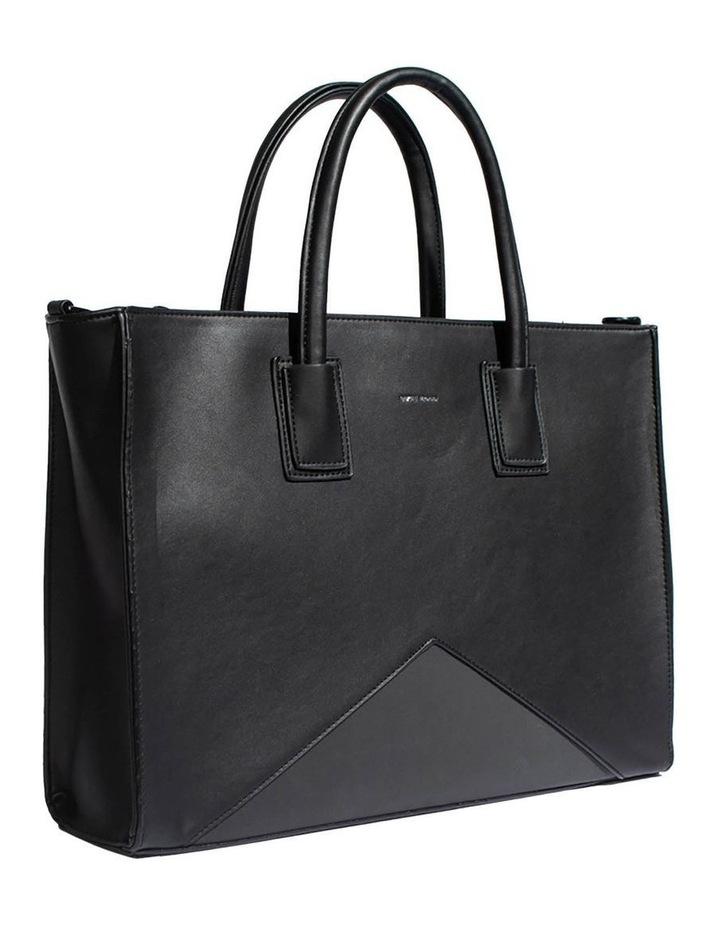 Greta Double Handle Black Tote Bag image 3