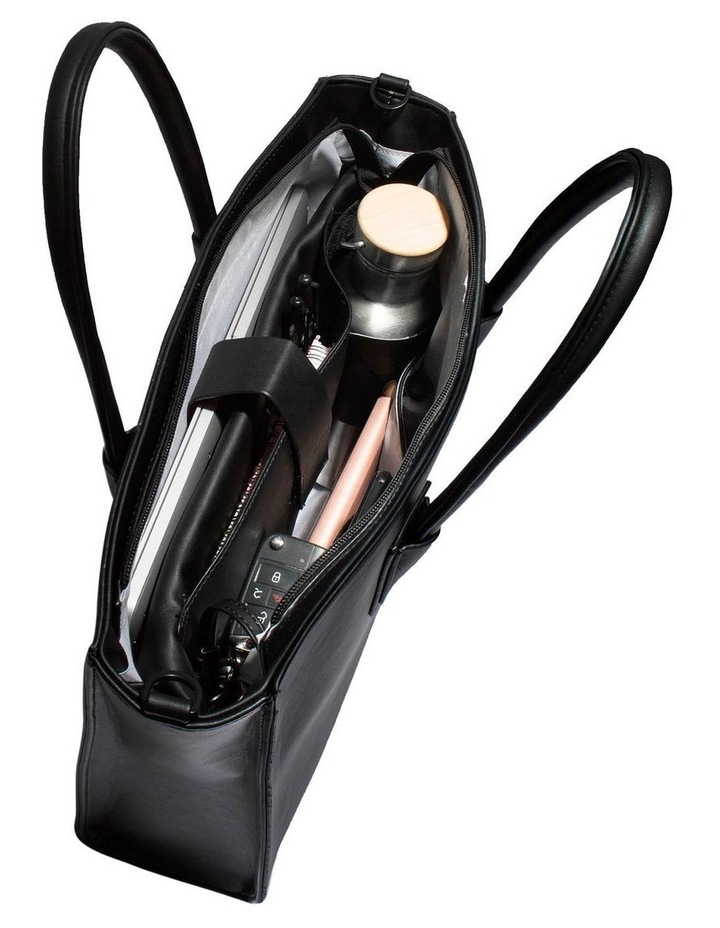 Greta Double Handle Black Tote Bag image 4